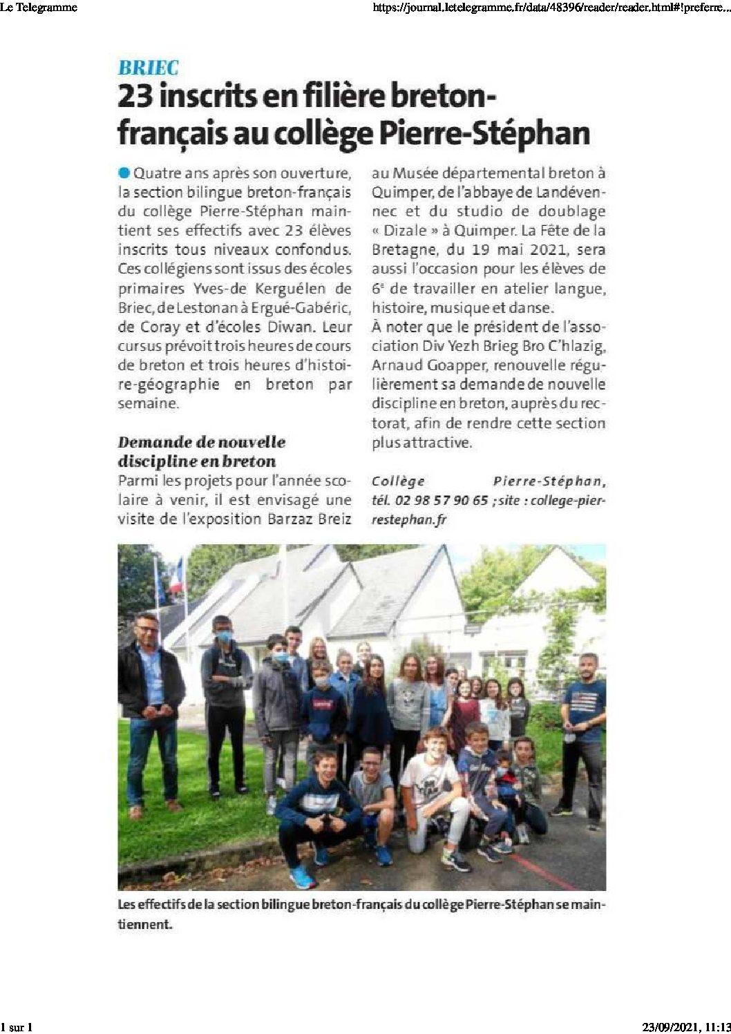 Filière Bilingue Breton